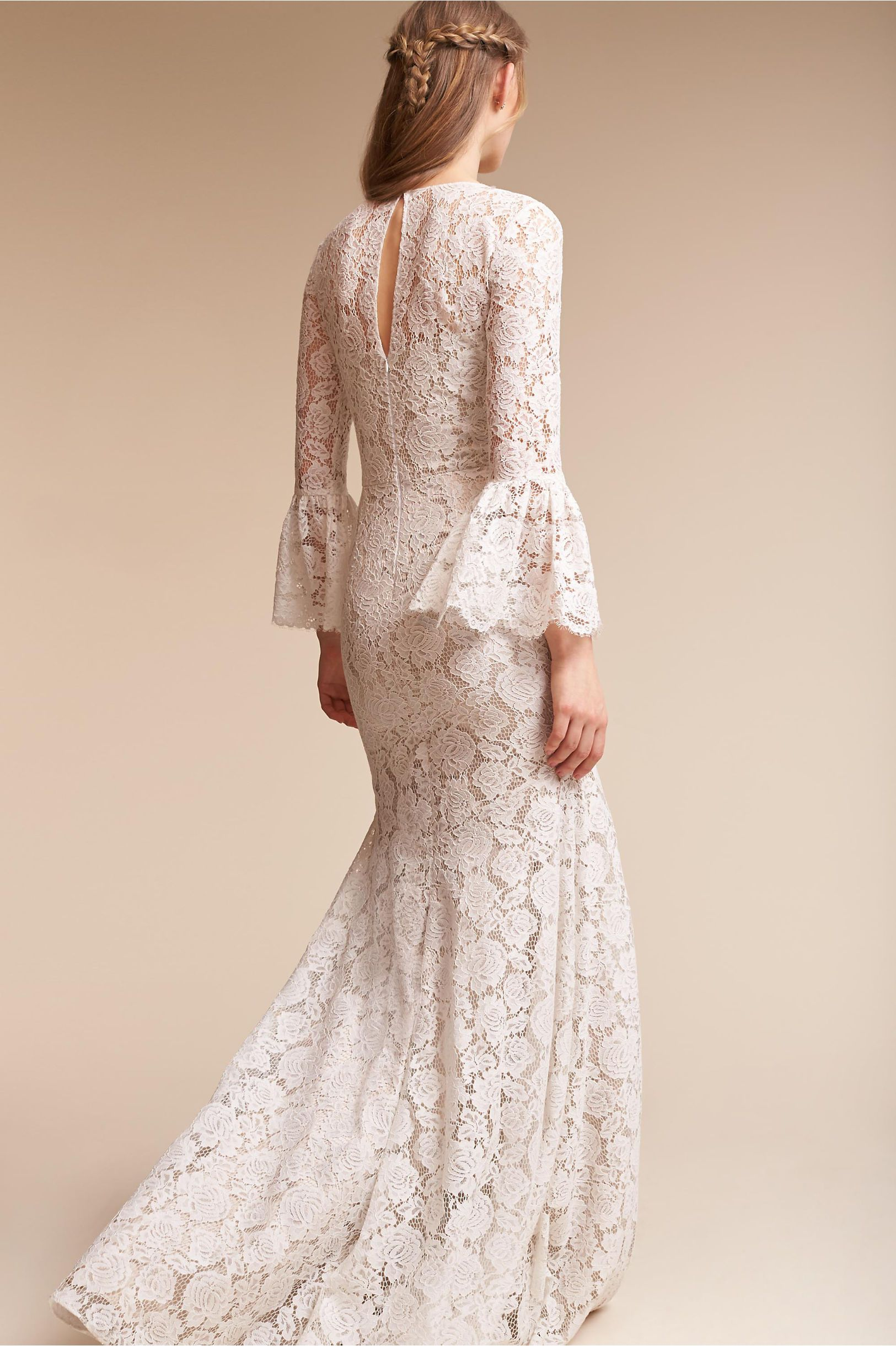 Bhldn harbor gown ivorychampagne in sale bhldn style hers