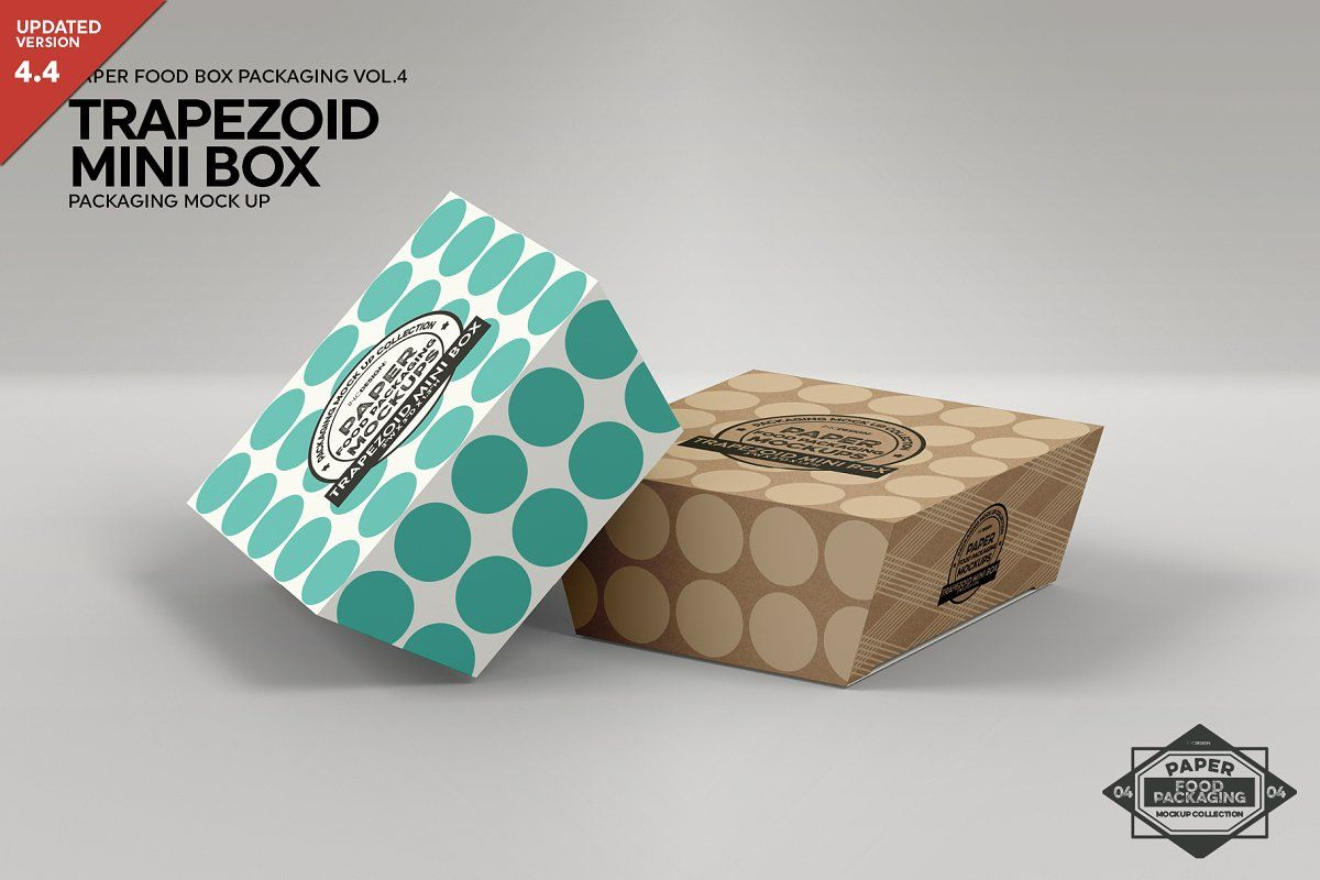 Download Trapezoid Mini Boxes Mockup Packaging Mockup Food Box Packaging Box Mockup