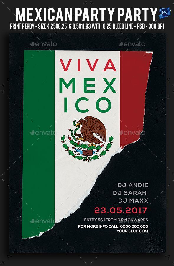 Mexican Party Flyer Mexican party, Party flyer and Font logo