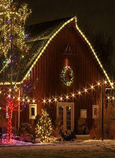 Country Christmas Barn Christmas Lights Christmas Tree Farm Outdoor Christmas