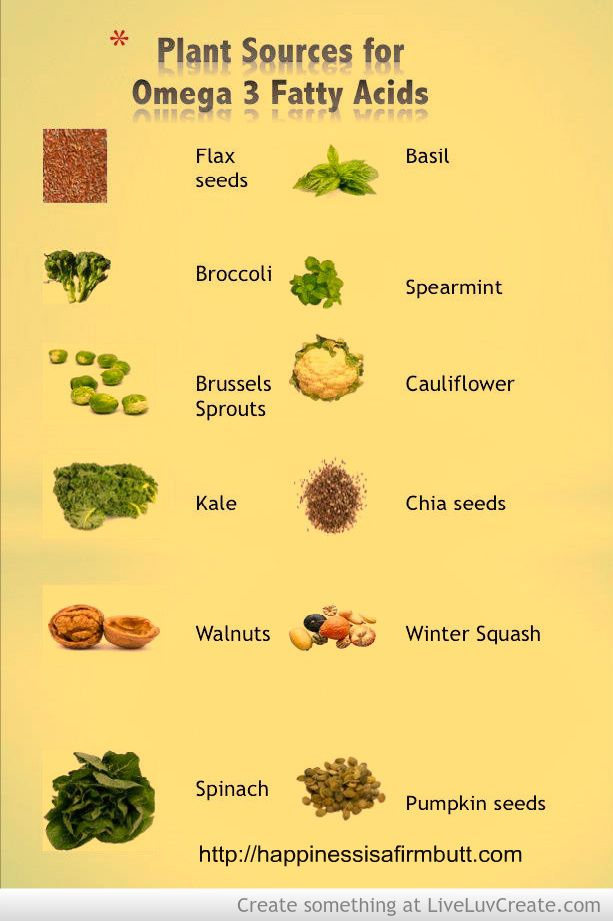 Plant sources for Omega 3 fatty acids u2026 Pinteresu2026 - fresh primal blueprint omega 3