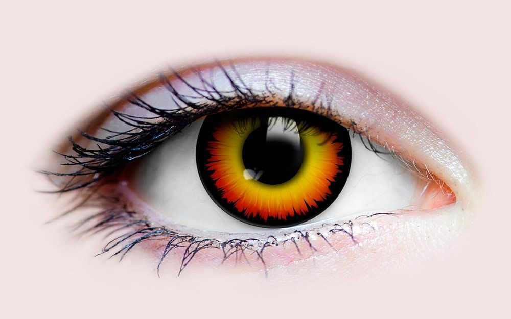 Wolf Eye Color Contacts Orange/Yellow Werewolf...