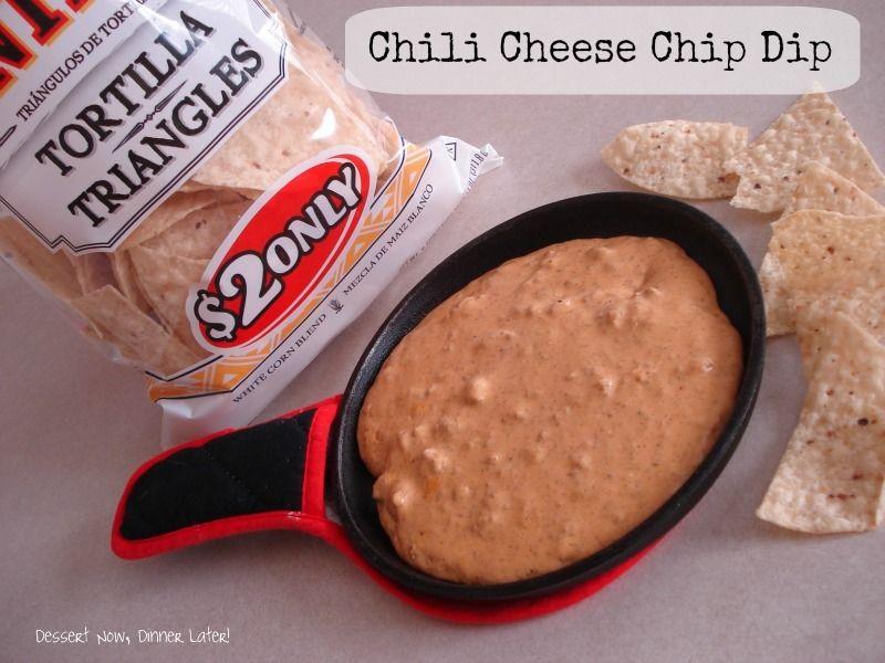 dessertnowdinnerlater.com : Chili Cheese Chip Dip
