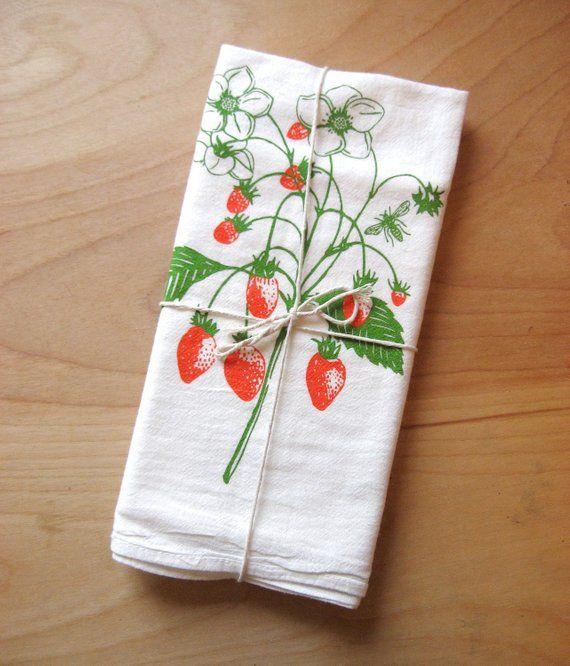 Strawberry Kitchen Towel Summer