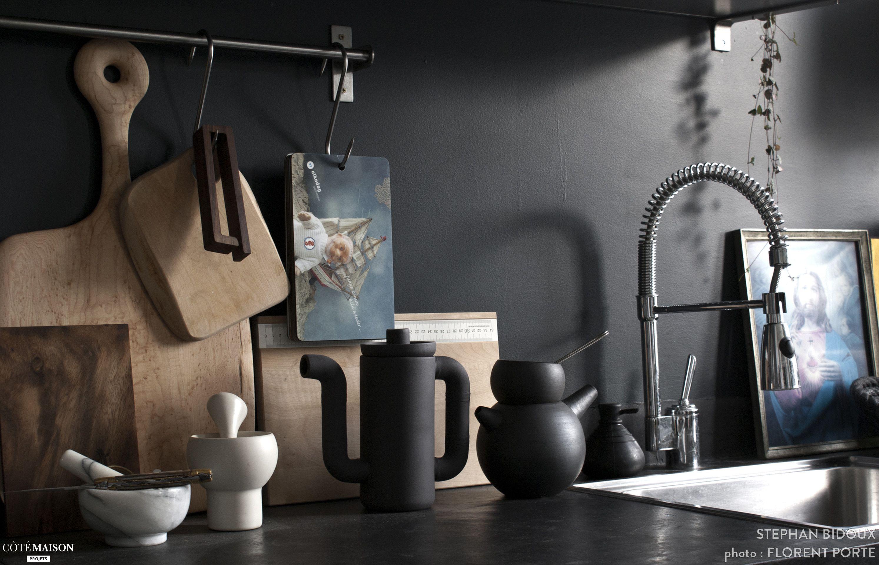 Salle De Bain Parents ~ Total Look Noir Mat Pour L Espace Cuisine Kitchen Pinterest