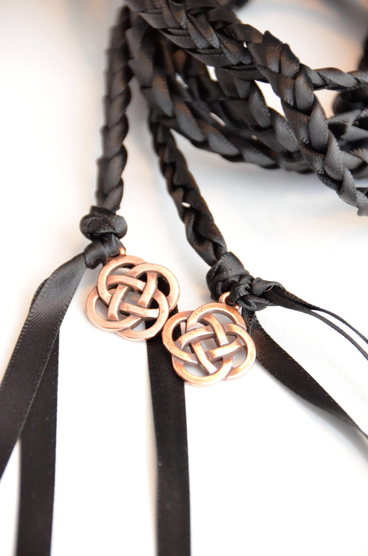Black Celtic Knot Wedding Hand Fasting Binding Cord Divinity Braid Handfasting Ceremony