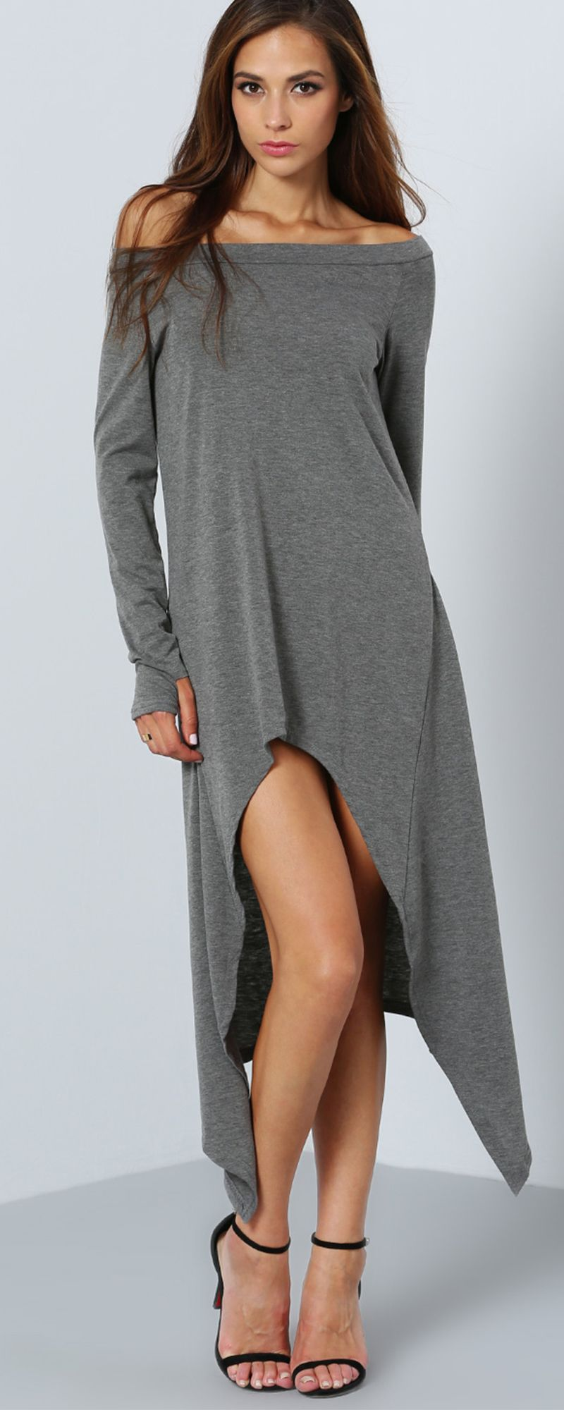 Check it out from shein.com! With dresses like the Grey ...