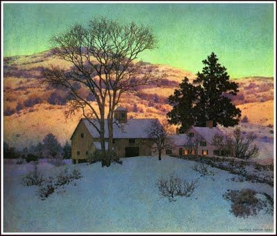 Winter by Maxfield Parrish