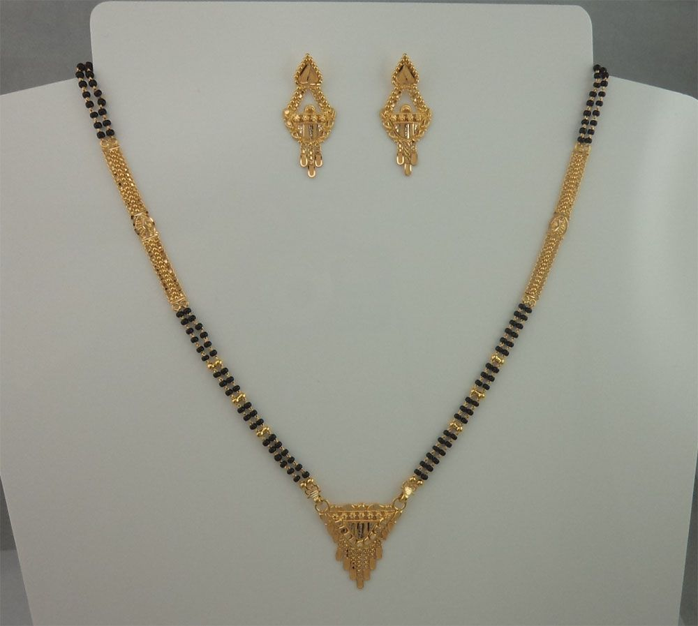 Gold mangalsutra with earrings google search designs jewellery design also best images body rh pinterest