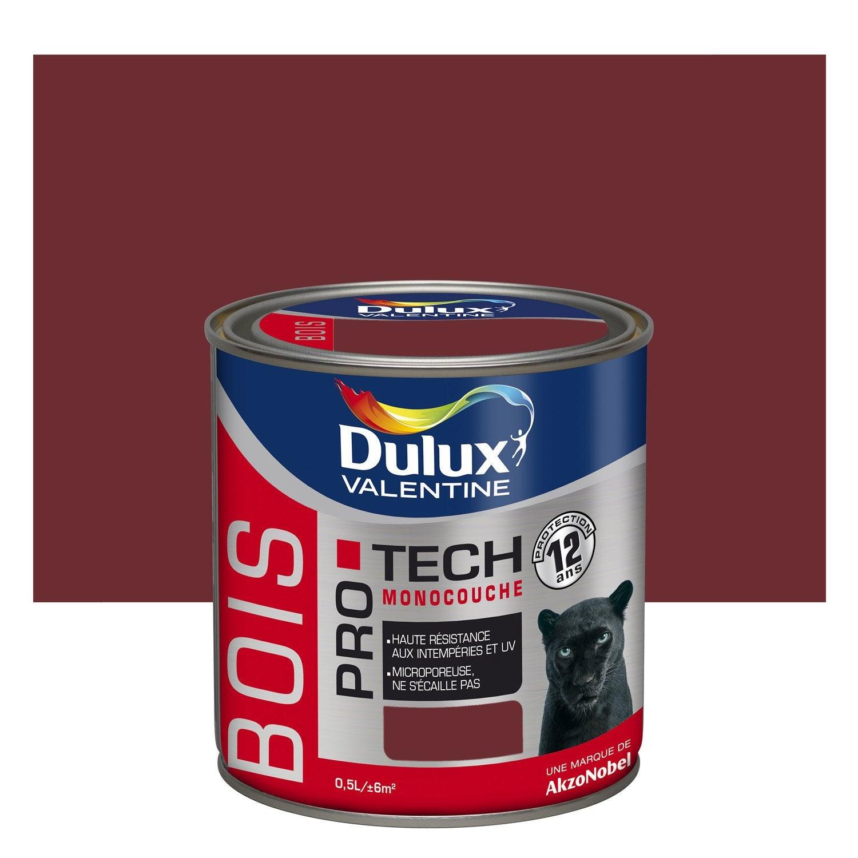 Peinture Bois Extérieur Pro Tech Dulux Valentine Rouge Pays
