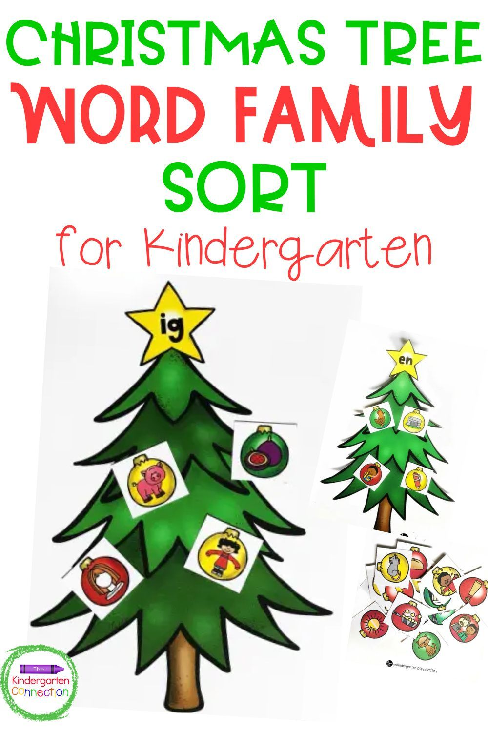 Christmas Tree Word Family Picture Sort In 2020 Kindergarten Christmas Activities Christmas Kindergarten Kindergarten Learning Activities