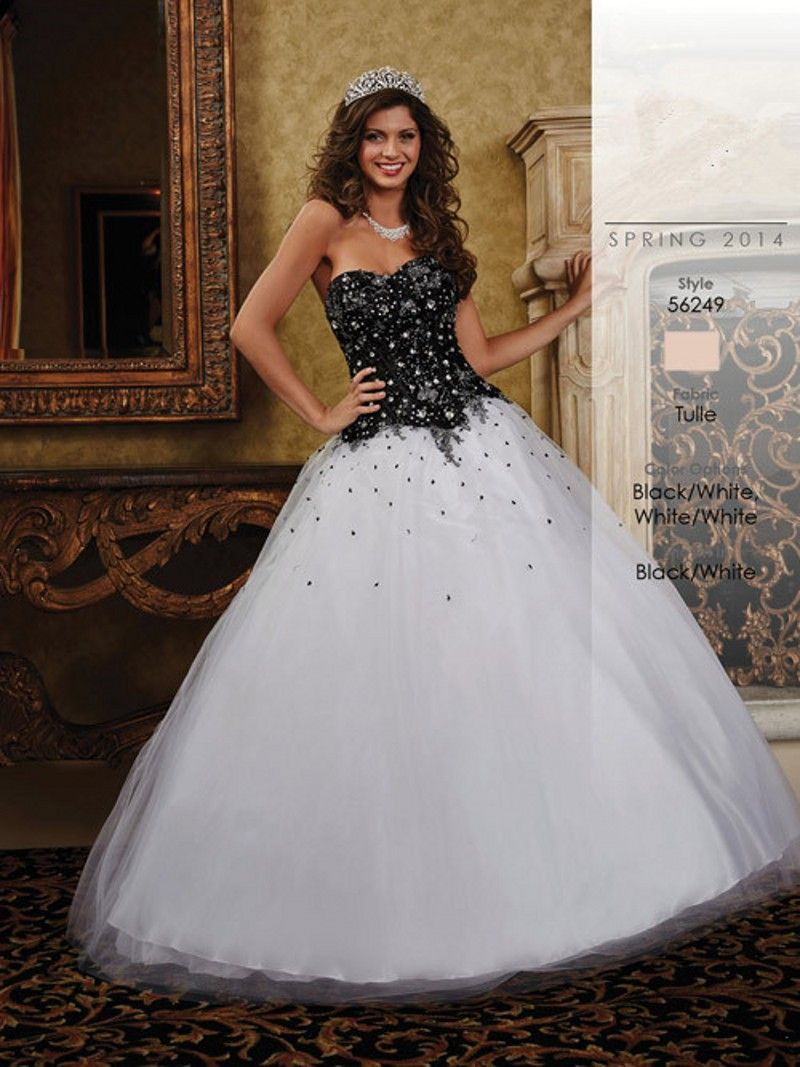 black and white ball dresses 2016 - Google Search   Stuff to Buy ...