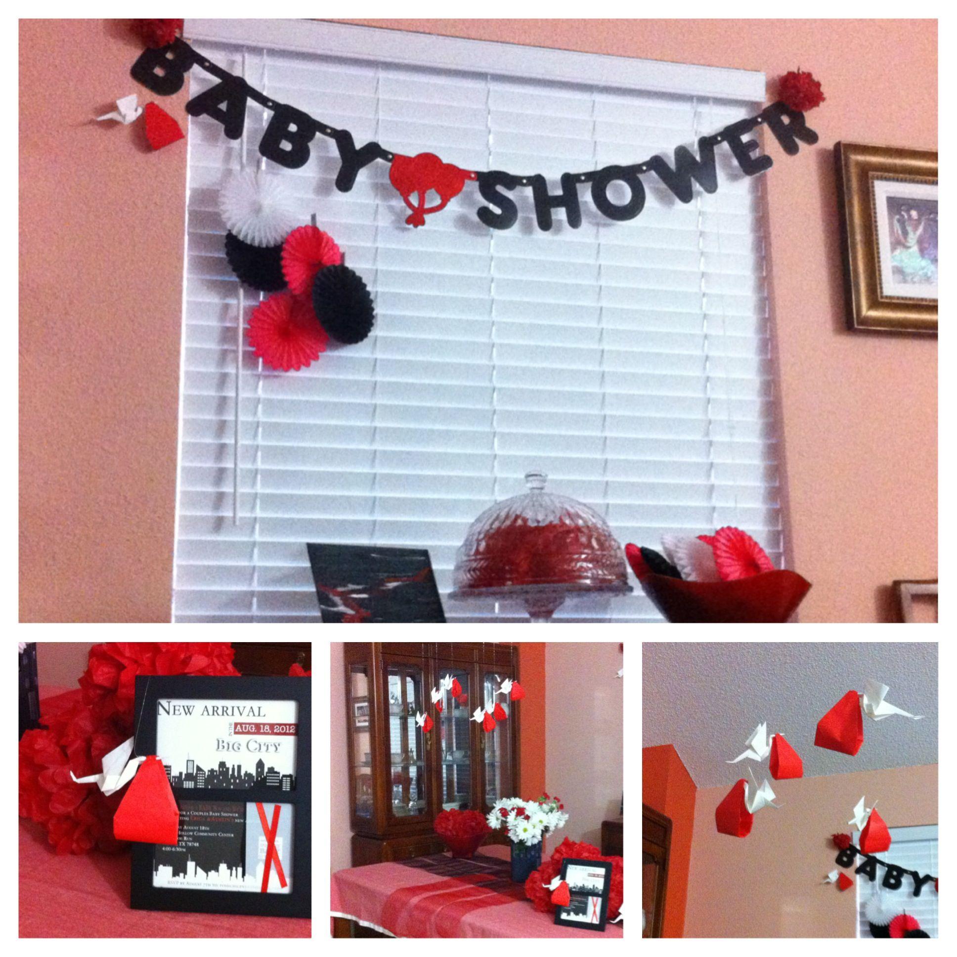 Red Black Baby Shower