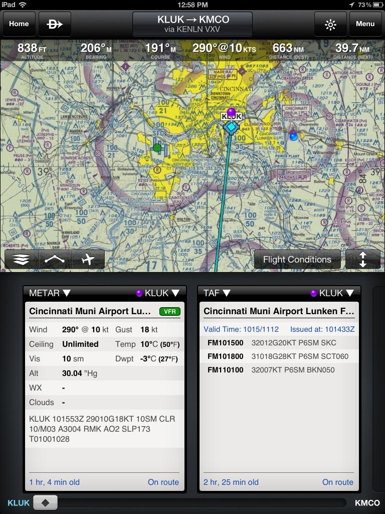 First look the new Garmin Pilot iPad app Ipad, Apple
