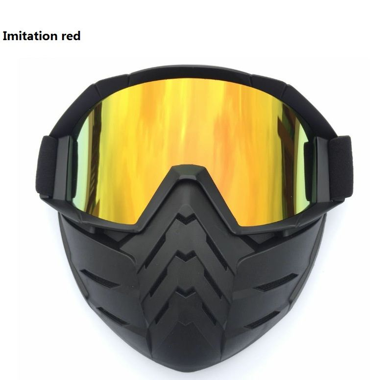 b5c36c45119c3 2018 Vintage Motorcycle Goggles Harley Motocross Aviator Pilot Cruiser  Glasses ATV Dirt Bike Motor Helmet 5 Colors