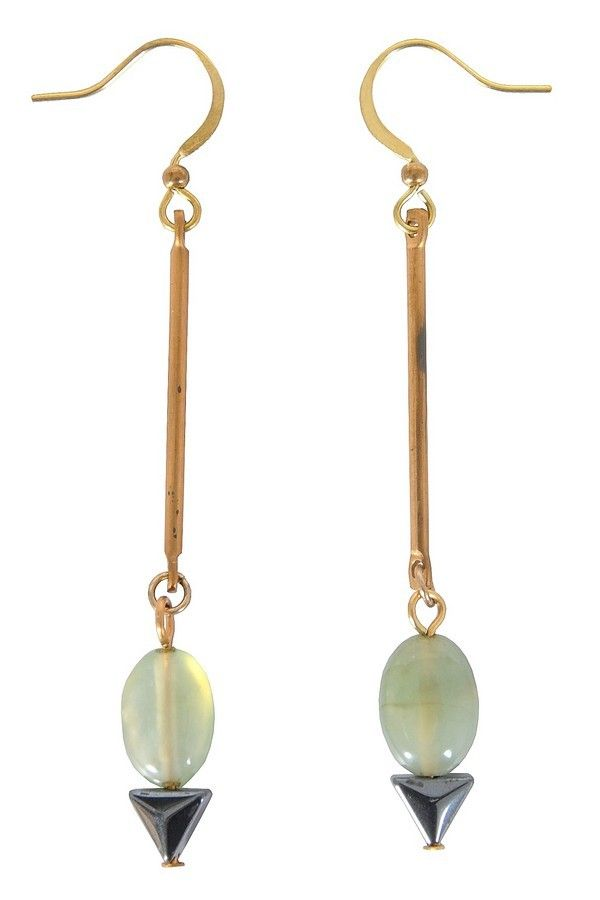 Lily Boutique Dainty Drop Earrings in Khaki Green, $12 Cute Earrings, Drop Earrings, Cute Jewelry, Green Drop Earrings, Khaki Drop Earrings, Delicate Earrings www.lilyboutique.com