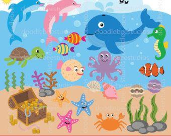 Deep Sea Creature Aquatic Animal Clip Art - Cartoon - Whale Cliparts  Transparent PNG