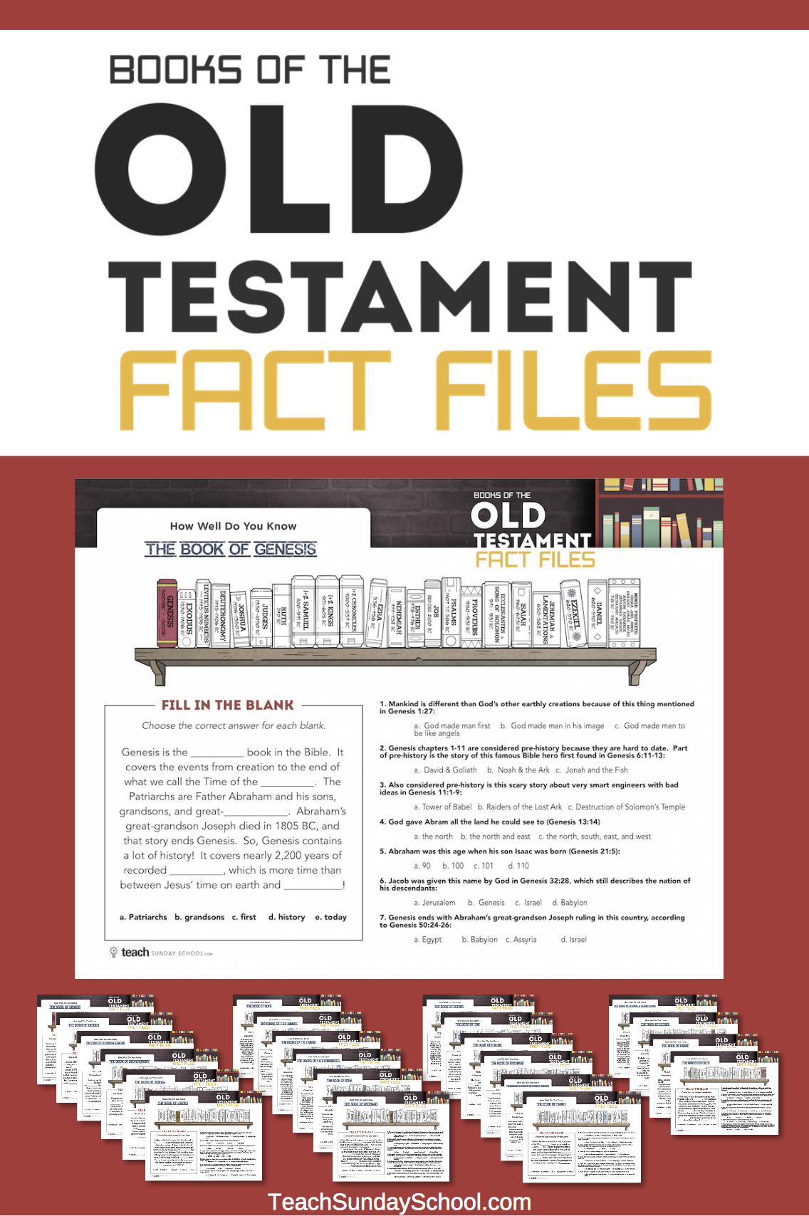 Bible Worksheets For Kids Old Testament Fact Files In