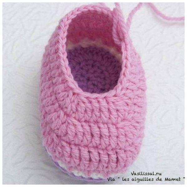 Cómo tejer botitas con ganchillo | Paso a Paso | Sapatinhos de bebê ...