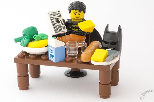 Batman begins... but first…. breakfast!