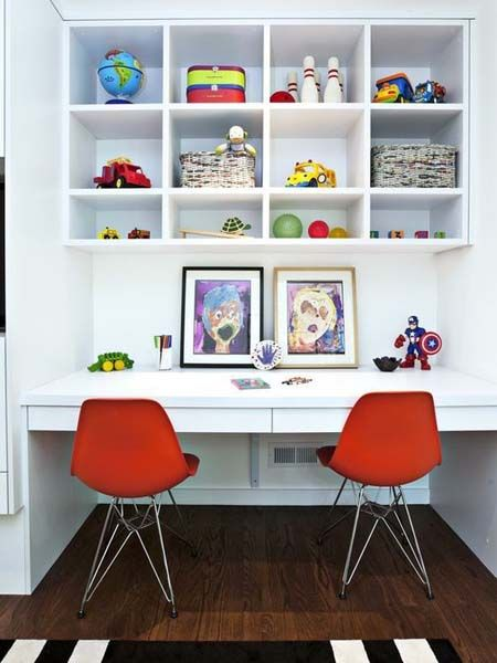 Decorating Study Areas For Kids Desks Playrooms and Basements
