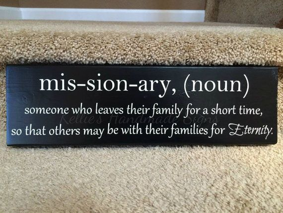 LDS Missionary definition sign   Missionary definition