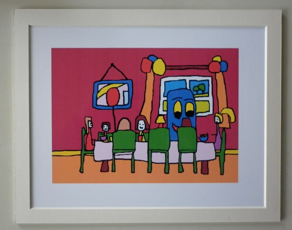 """£0.99 Mounted Print  Bobby Bus  by Simon Bramble 10""""x8""""  Reproduction from my Book"""