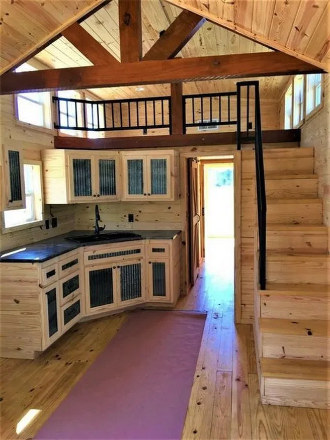25 Of The Most Genius Things People Have Done With The Space Under Their Stairs Housedecor In 2020 Tiny House Interior Design Tiny House Cabin Tiny House Inspiration