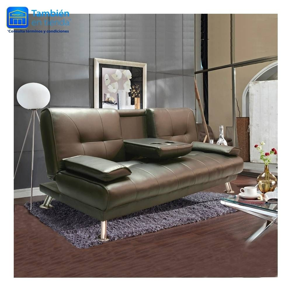Walmart Living Room Furniture Sofa Cama Hometrends Chocolate Con Portavasos 349900 En