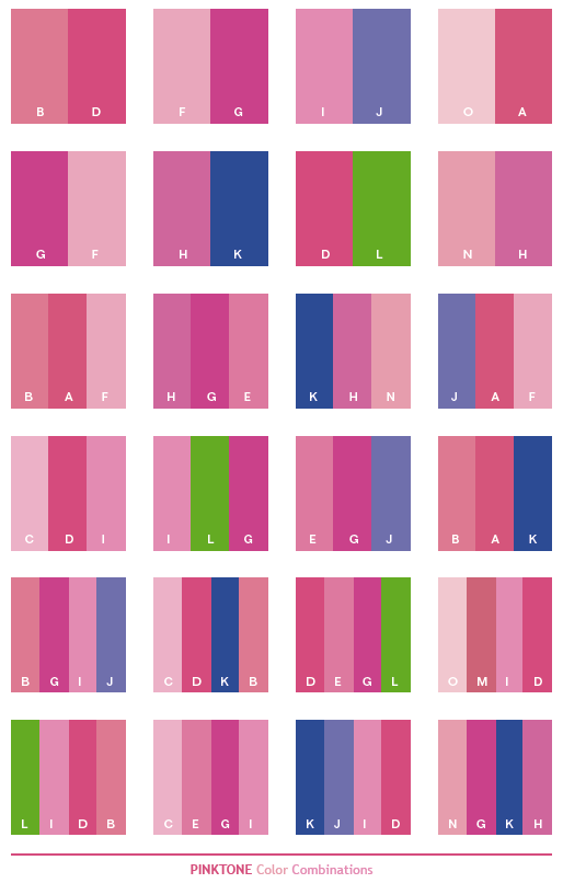 Pink And Purple Color Schemes Tone Combinations Palettes For Print
