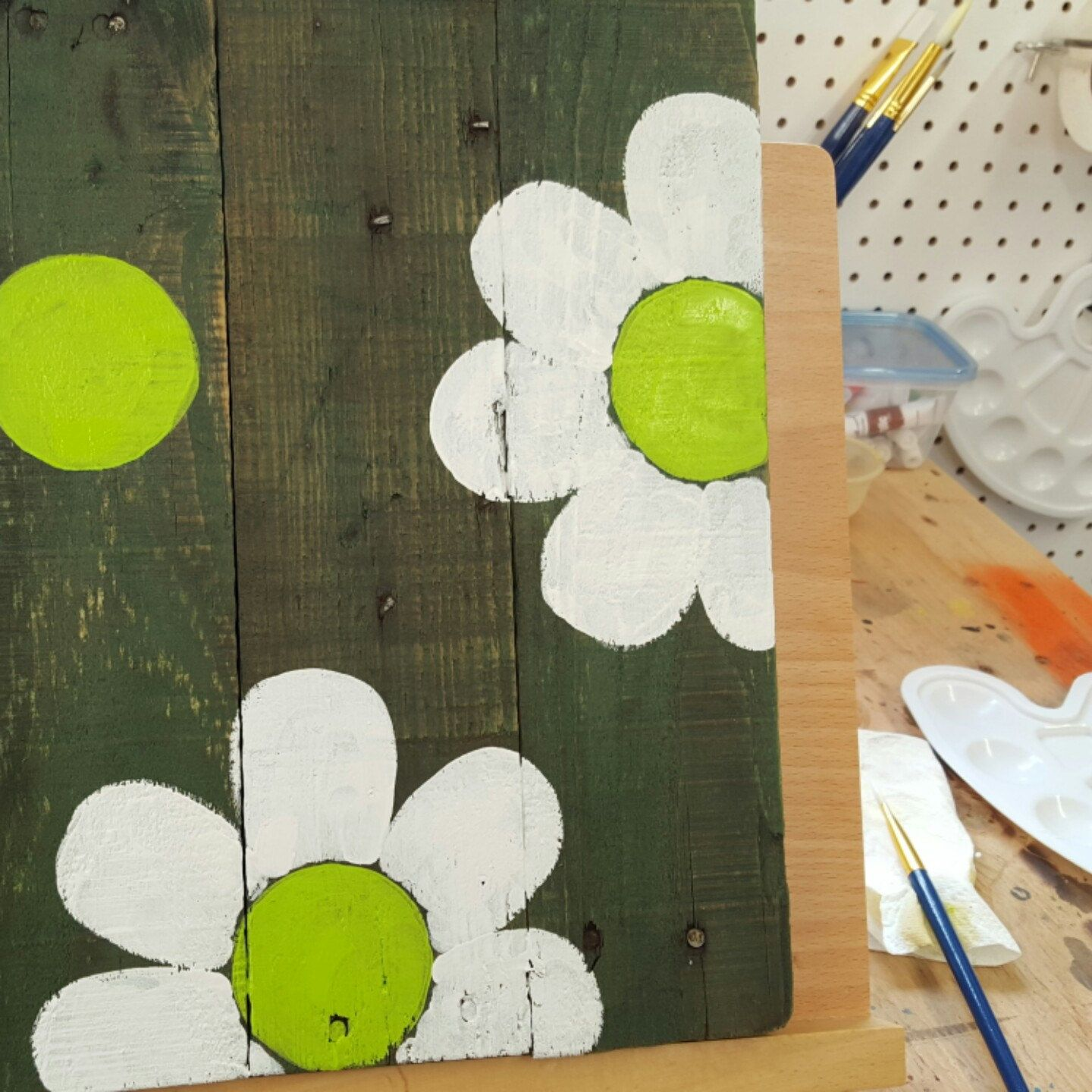 Hand painted signwooden signpainted flowerswood wall artwooden