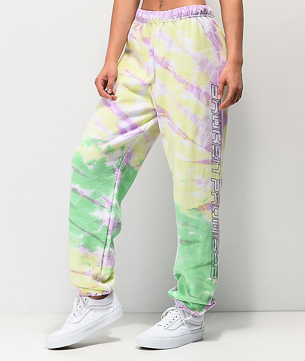 Blue green tie dye sweatpants in 2020 cute sweatpants