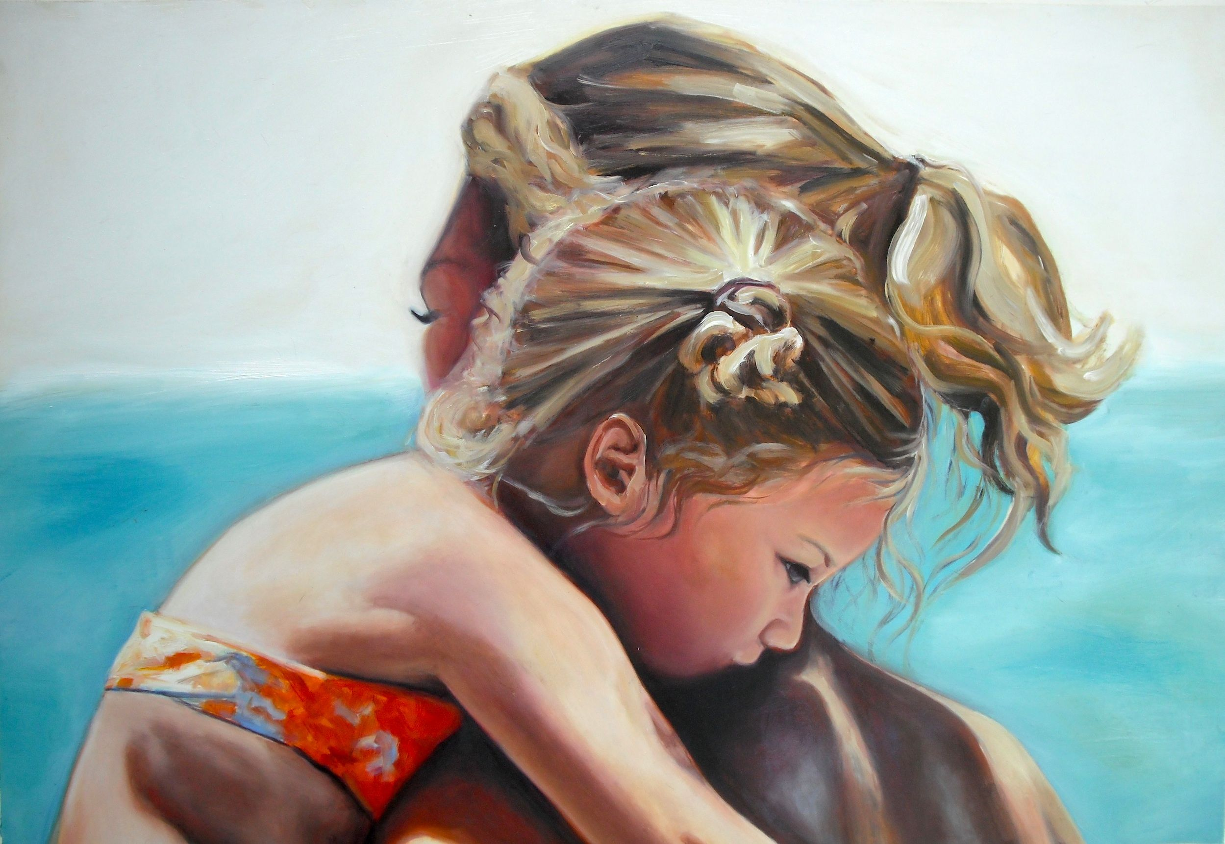 "Beaches, 24"" x 34"", Oil Painting:)"