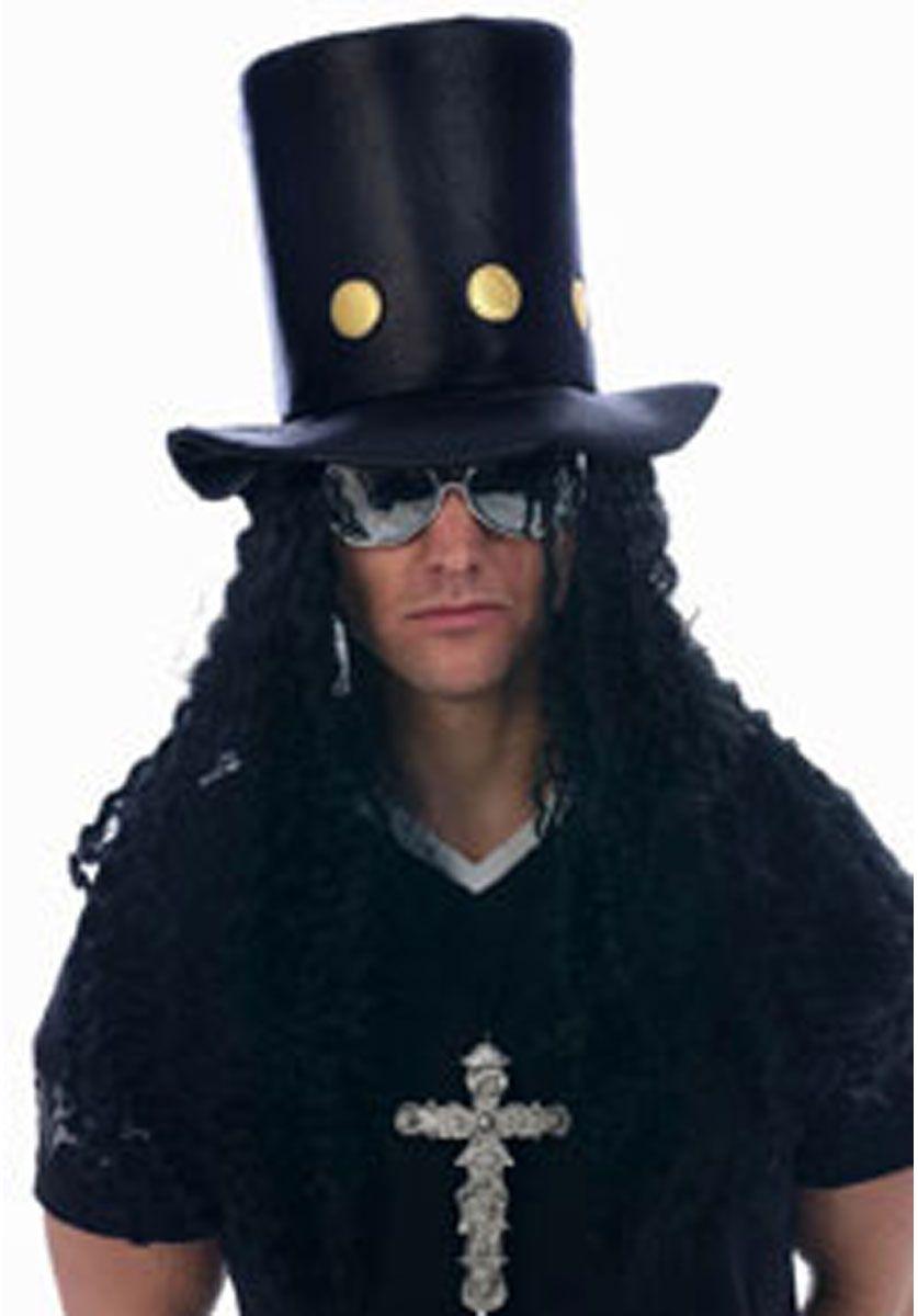 80's Guitar Man Hat With Hair Fancy dress hats, Hat