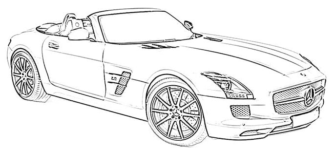 Mercedes Benz Sport Coloring Page Mercedes Car Coloring Pages