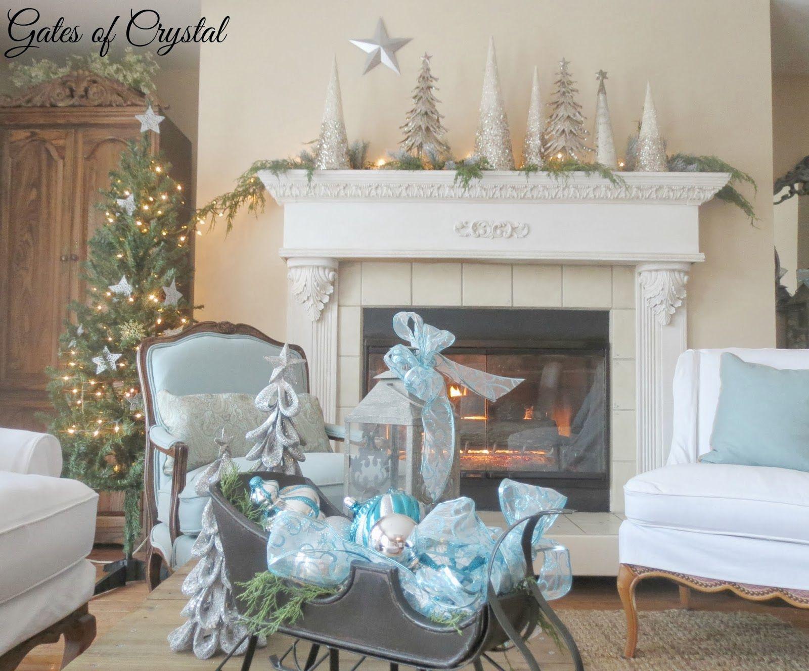 Xmas fireplace/mantel idea   Christmas fireplace mantels ...