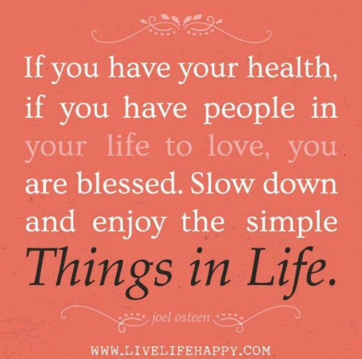 Simple things in life...