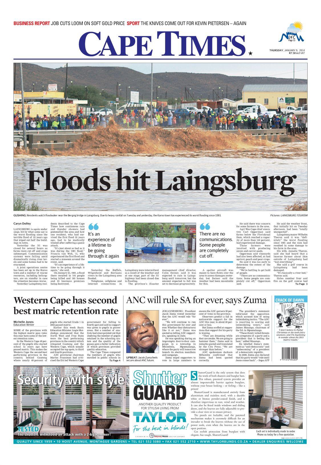 News Making Headlines Floods Hit Laingsburg
