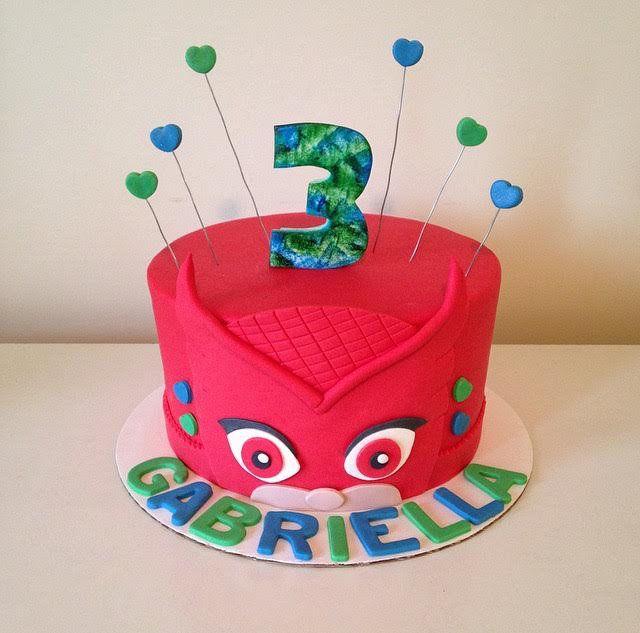 cakes | kid designs | pj masks birthday cake, owlette