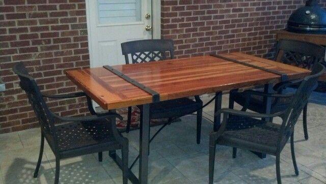 Heart of pine barn wood table