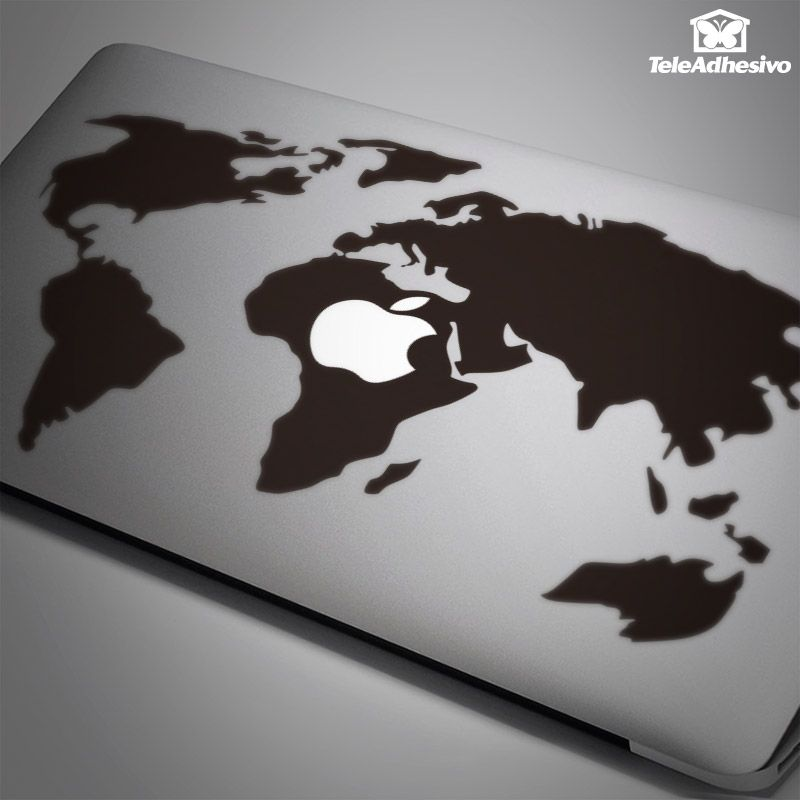 Car and motorbike stickers world map stikers mac book pinterest macbook sticker world map valid for macbook air macbook 13 gumiabroncs Choice Image