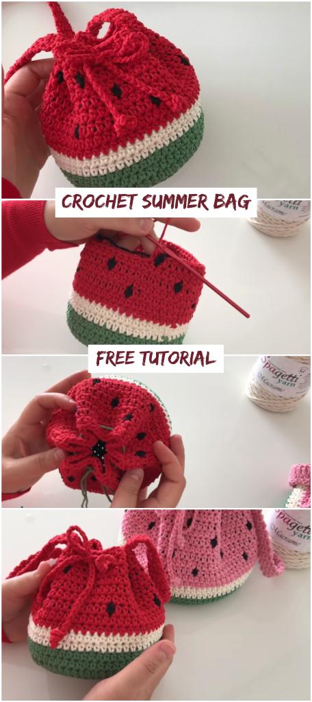 Photo of Crochet Summer Bag – Wassermelonentasche – Crochetopedia – Crochet Bags – #B …