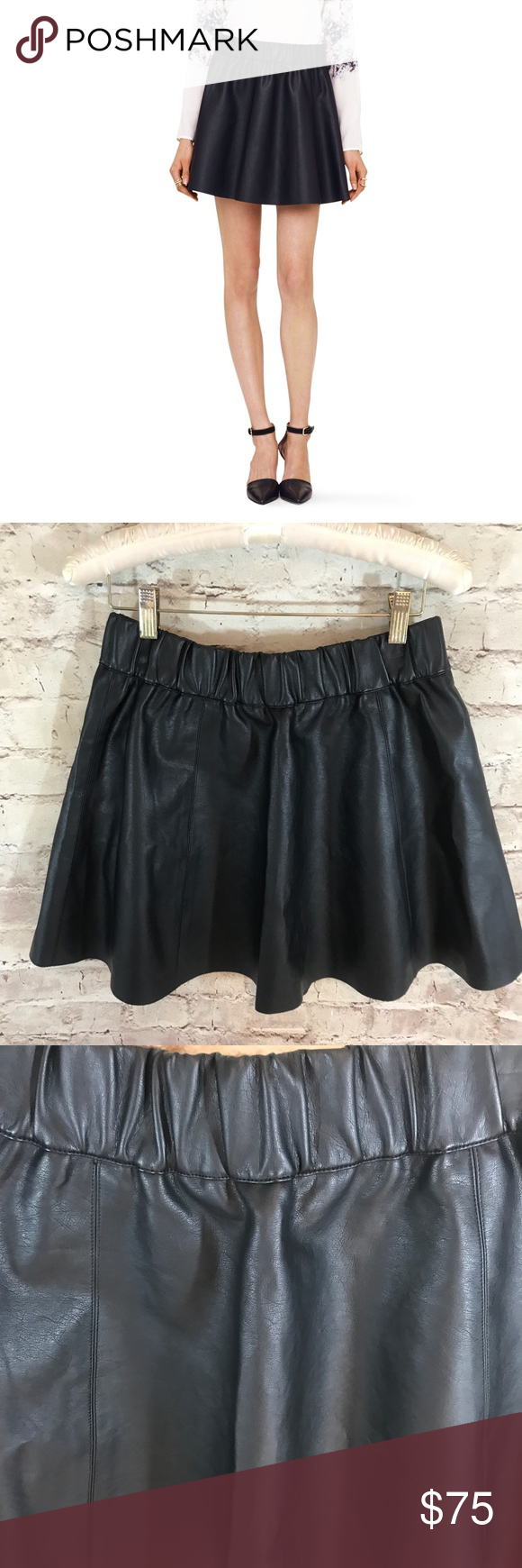 7d620ee9d5 NWT Club Monaco Lyn Faux Leather Mini Skirt So cute and perfectly on trend!  Brand new with tags. Size 2. Waist 26-27