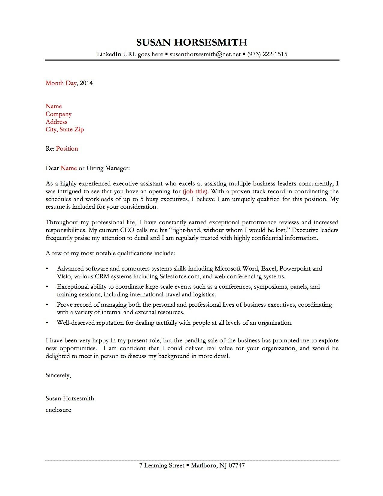 Valid Cover Letters Examples for Jobs Cover letter for