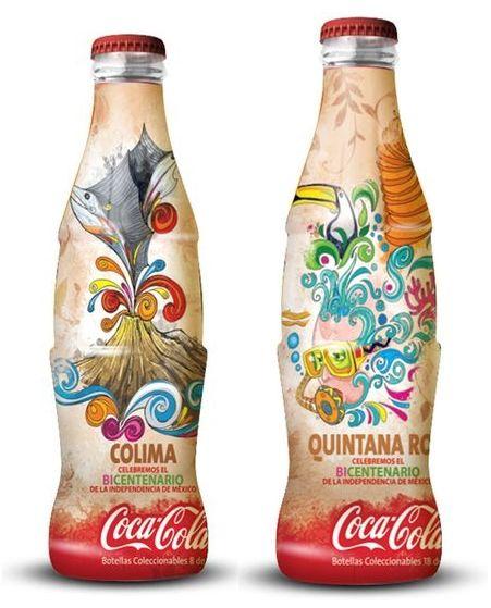 (Coke code 123) 2010년 멕시코에서 혁명 100년을 기념하며 출시된 코카-콜라 컨투어 병!코카-콜라의 상징 컨투어병에 멕시코 특유의 디자인이 아름다운 조화를 이루고 있네요!