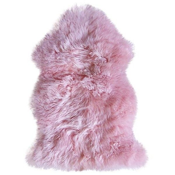 Luxe Faux Fur Pink New Zealand Sheepskin Rug 50 Liked On Polyvore Featuring