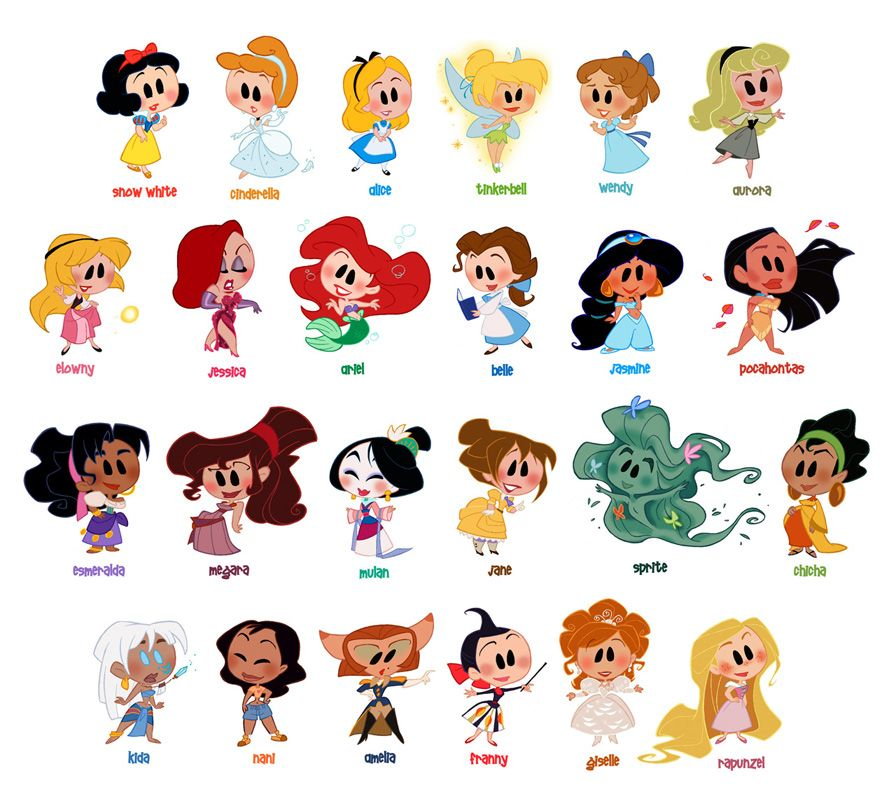 I just noticed that most of the Disney Princesses wear ...