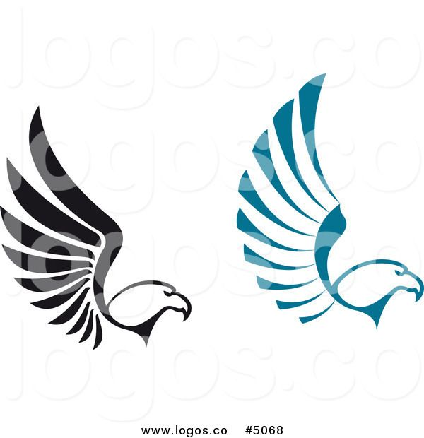 royalty free vector of black and blue flying eagle logos by rh pinterest ca