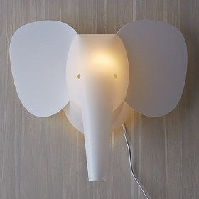 Elephant Zzzoolight Wall Sconce With