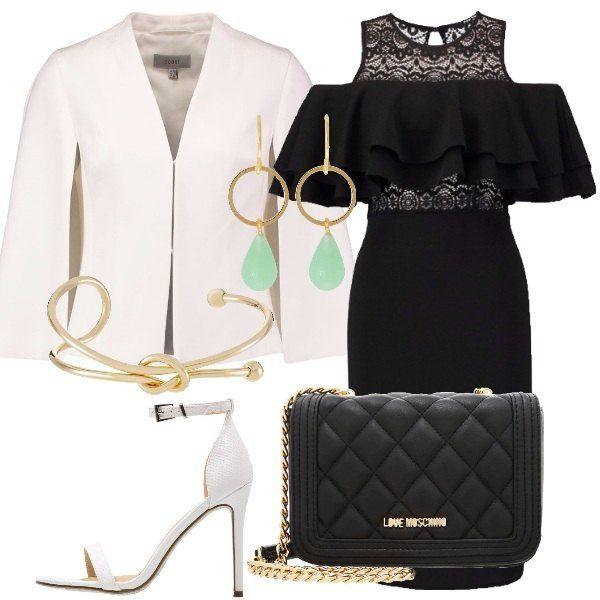 Il tubino nero  outfit donna Sexy per serata elegante e party discoteca 02b45c5f784